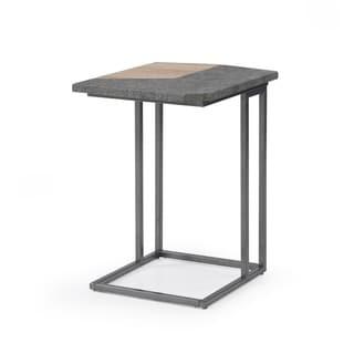 Carbon Loft Daedalus Natural Paper and Concrete Grey Laptop Table