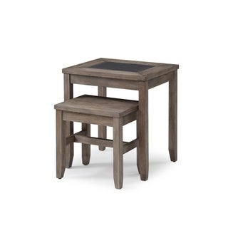 Nevada Honey Amber 2 Piece Nesting Tables