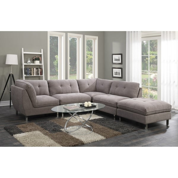 Emerald Home Castello Grey 5 Piece Set Sectional Sofas