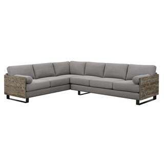 Interlude Light Grey 2-Piece Sectional with 2 Bolster Pillows