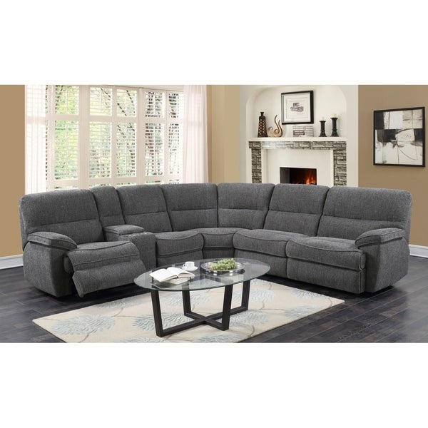 Emerald Home Aurora Platinum 3 Piece Sleeper Sectional