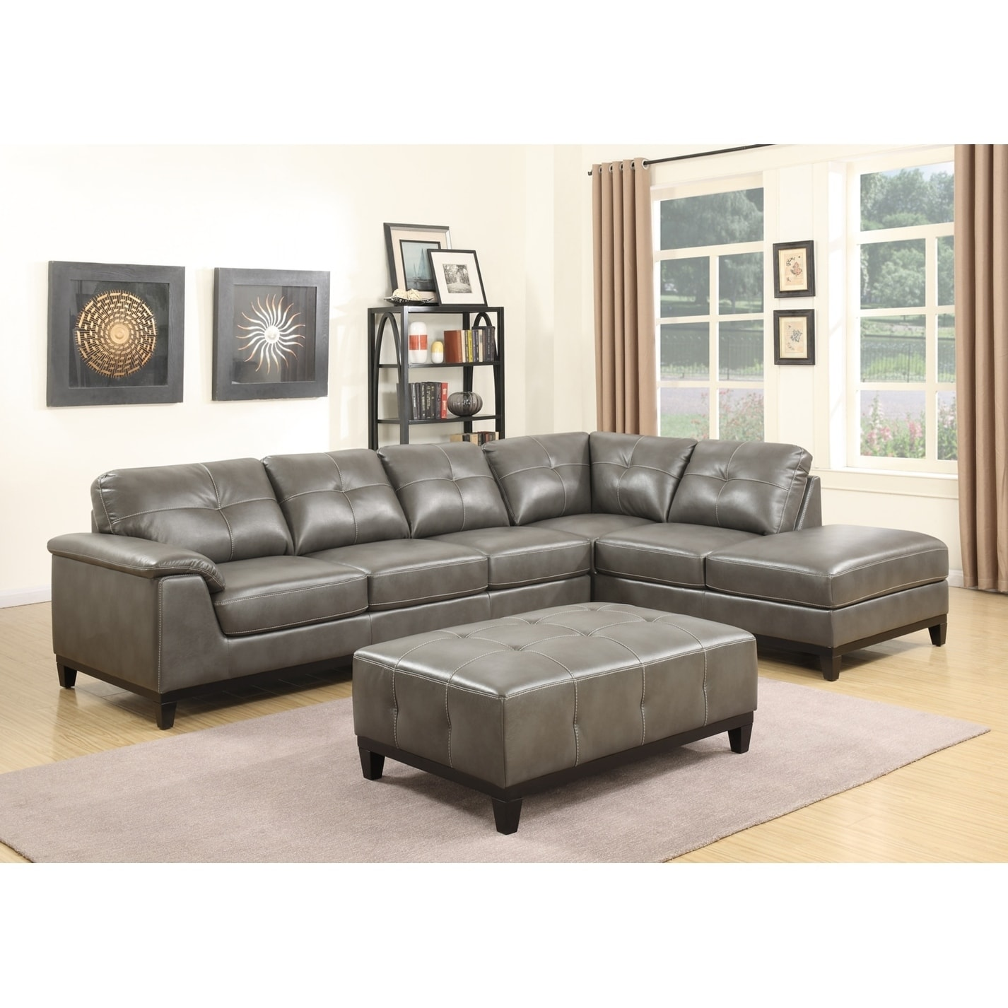 Copper Grove Kinglake 3 Piece Sectional With 6 Seats