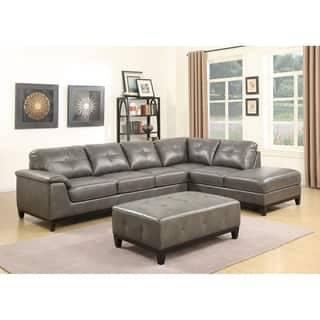 leather living room sectionals. Emerald Home Marquis 3 Piece Sectional with 6 Seats Sofas For Less  Overstock com