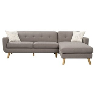 Carson Carrington Nesbyen 2-piece Sofa Chaise Sectional with 2 Accent Pillows