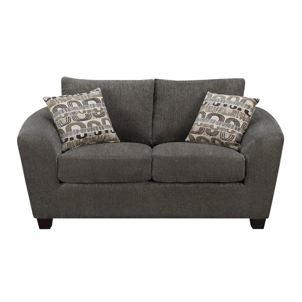 Shop Emerald Home Urbana Ink Loveseat With Pillows Loose Knife