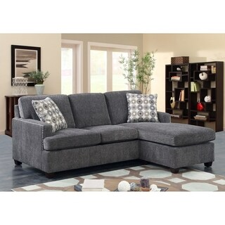 Emerald Home Siesta California King Ink Sleeper Sofa With Gel Memory Mattress