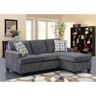 Emerald Home Siesta California King Ink Sleeper Sofa with Gel Memory Mattress