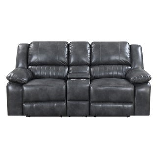 Emerald Home Navaro Grey Motion Console Loveseat