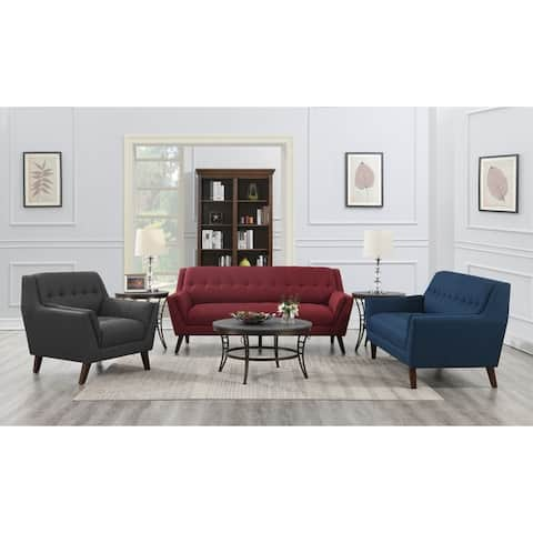 Carson Carrington Nordfjord Mid-century Tufted Sofa