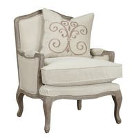 Salerno Sand Grey And Cream Chair With 1 Pillow