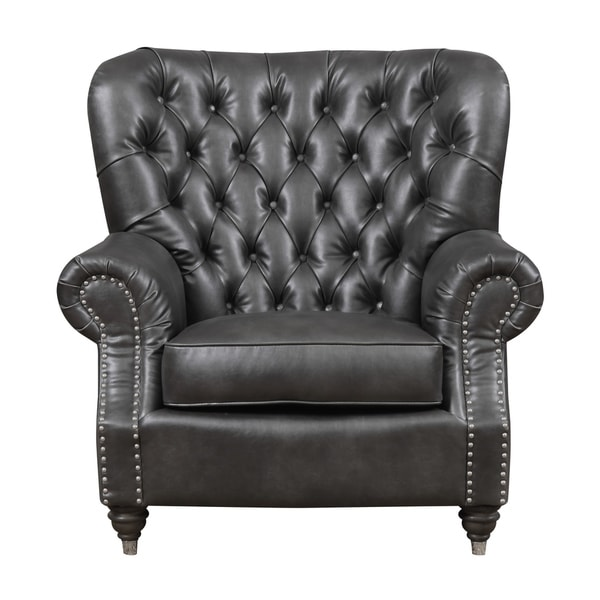 Shop Emerald Home Capone Charcoal Gray Accent Chair With Faux