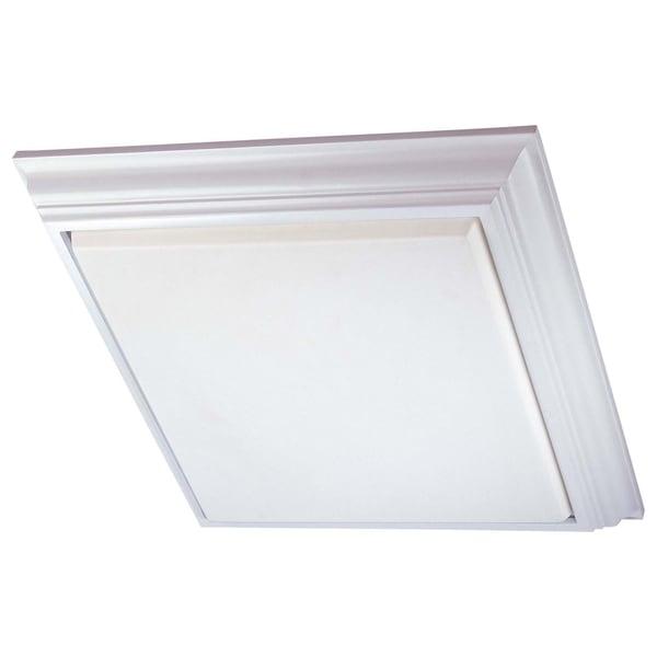 Minka Lavery Kitchen White Steel Fluorescent Flush Mount Light Fixture