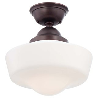 Minka Lavery 1 Light Semi Flush Mount - Brown