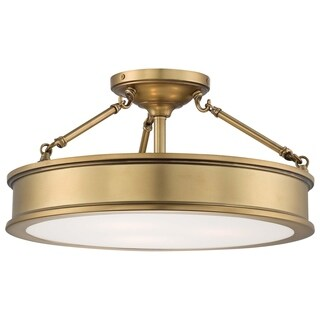 Minka Lavery Harbour Point 3-Light Semi Flush Mount Fixture
