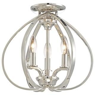 Minka Lavery Tilbury 3 Light Semi Flush Mount - Silver