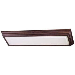 Minka Lavery Walnut Steel 2-light Kitchen Fluorescent Flush-mounted Fixture