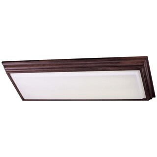 Minka Lavery Brown Balcaro Walnut Steel 4-light Kitchen Fluorescent Flush-mount Fixture