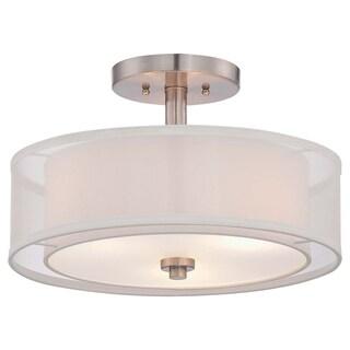 Minka Lavery Parsons Studio 3 Light Semi Flush - Silver