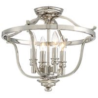 Minka Lavery Audrey'S Point 4 Light Semi Flush - Silver
