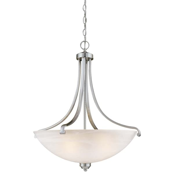 Minka Lavery Paradox 4 Light Pendant - Silver