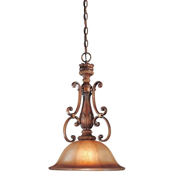 Minka Lavery Illuminati 1 Light Pendant - Bronze