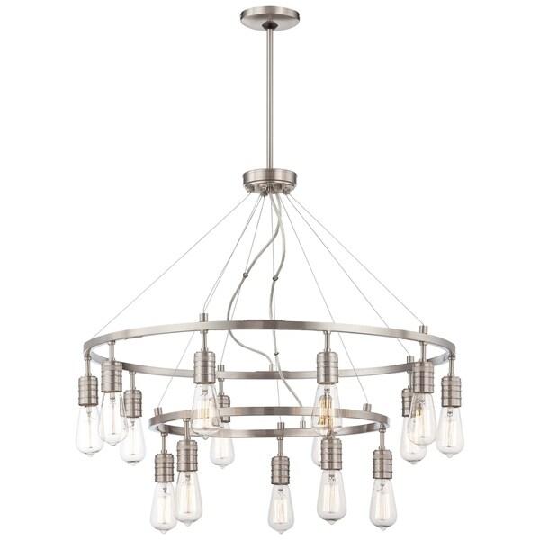 Minka Lavery Downtown Edison 15 Light Chandelier - Silver