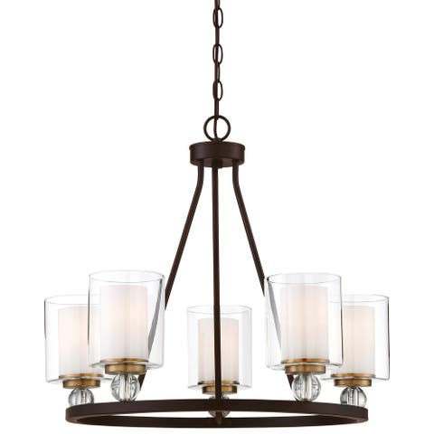 Studio 5 Painted Bronze W/Natural Brush Chandelier By Minka Lavery