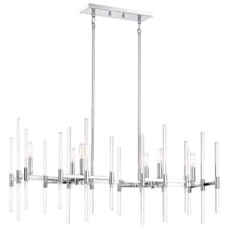 Minka lavery chandeliers for less overstock minka lavery pillar island light chrome mozeypictures Image collections