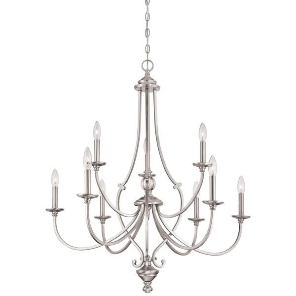 Minka Lavery Savannah Row 9 Light Chandelier - Silver