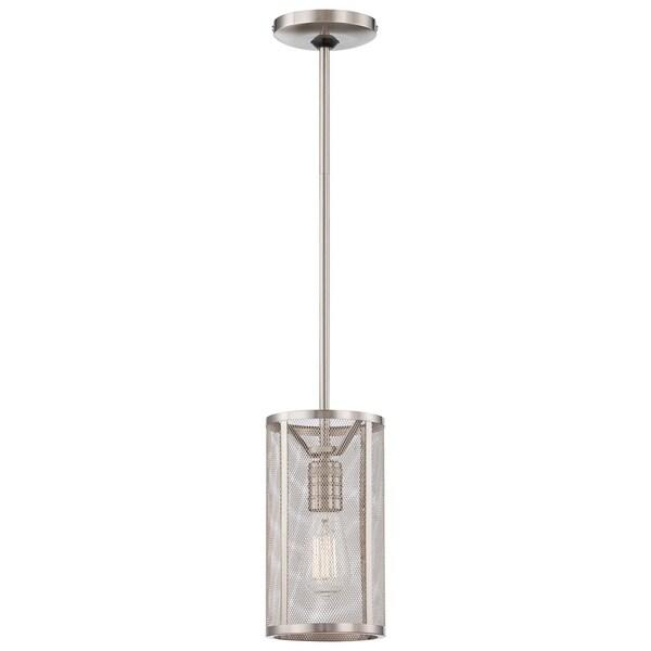 Minka Lavery Downtown Edison 1 Light Mini Pendant - Silver