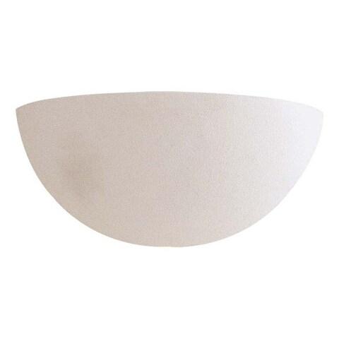 White Ceramic 1 Light Wall Sconce By Minka Lavery