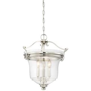 Minka lavery pendant lighting for less overstock minka lavery audreys point 3 light pendant convertible to semi flush silver aloadofball Images