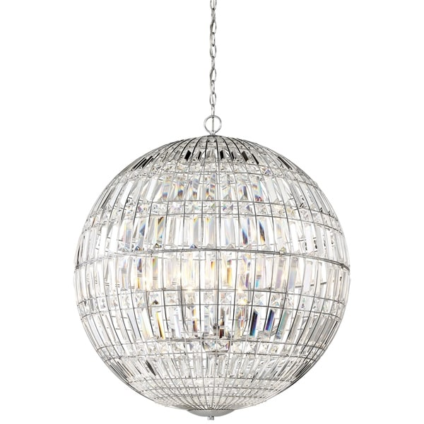 Minka Lavery Palermo 8 Light Pendant - Chrome