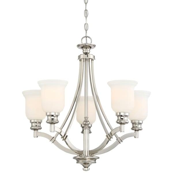 Minka Lavery Audrey'S Point 5 Light Chandelier - Silver