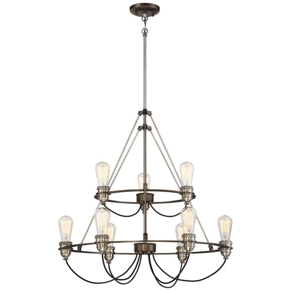 Minka Lavery Uptown Edison 9 Light Chandelier