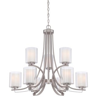 Minka Lavery Parsons Studio Brushed Nickel Finish Steel 9-light Chandelier