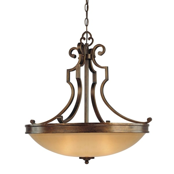 Minka Lavery Atterbury 3 Light Pendant - Bronze