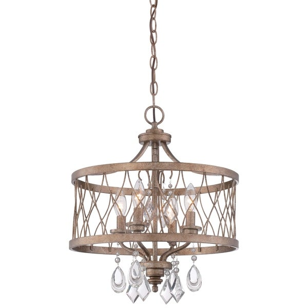 Minka Lavery West Liberty 4 Light Mini Chandelier (Convertible To Semi Flush) - Gold