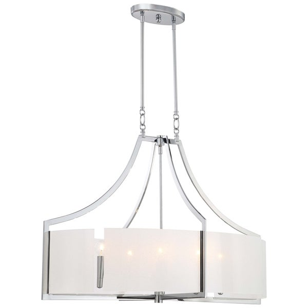 Minka Lavery Clarte 6 Light Oval Pendant - Chrome