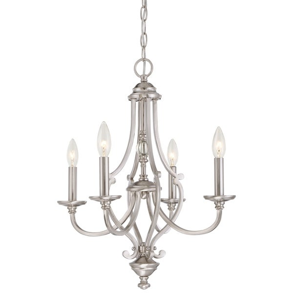 Minka Lavery Savannah Row 4 Light Chandelier - Silver