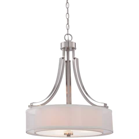 Parsons Studio Brushed Nickel 3 Light Pendant by Minka Lavery