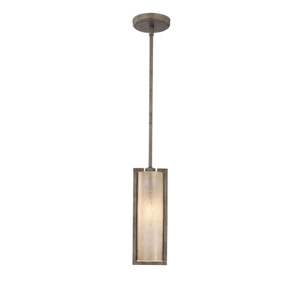 Minka Lavery Clarte Grey Steel/Glass 1-light Mini Pendant