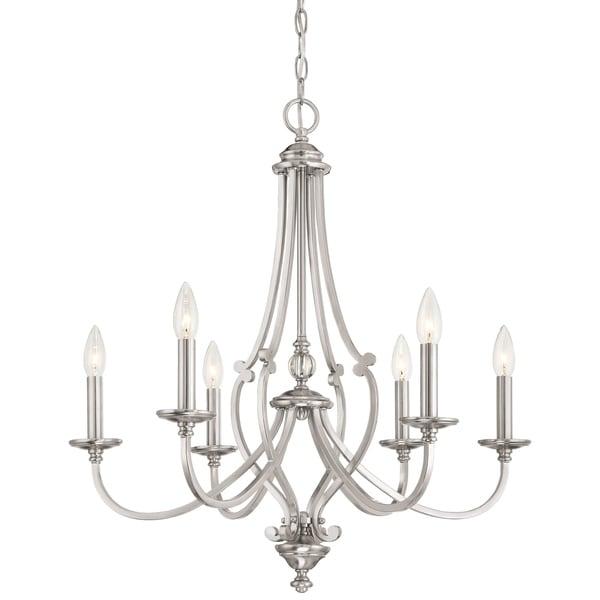 Minka Lavery Savannah Row 6 Light Chandelier - Silver