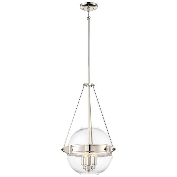 Minka Lavery Atrio 3 Light Pendant - Silver
