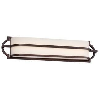 Minka Lavery Mission Grove Dark Brushed Bronze LED Bath Bar