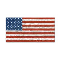 Jean Plout 'Old Glory On Wood 1' Canvas Art