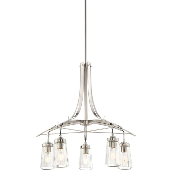 Minka Lavery Poleis 5 Light Chandelier - Silver