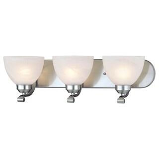 Link to Paradox Brushed Nickel 3 Light Bath by Minka Lavery Similar Items in Bathroom Vanity Lights
