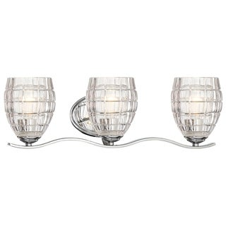Minka Lavery Austine Chrome Steel 3-light Bath Fixture