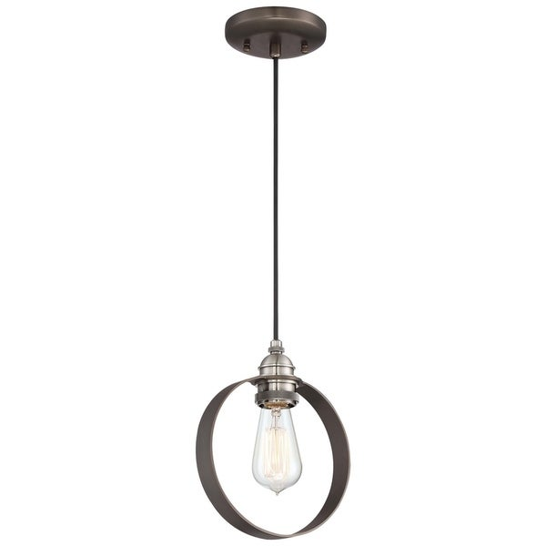 Minka Lavery Uptown Edison Bronze-finish Steel 1-light Mini Pendant